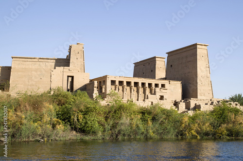 The temple of Isis from Philae near to Aswan, Egypt Wallpaper Mural