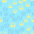 Vintage crown pattern for wallpaper design. Seamless background. Graphic modern holiday decoration element. King, queen, prince abstract geometric logo. Little princess. Vector