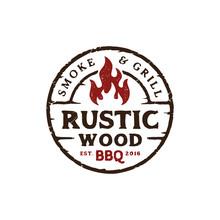 Vintage Retro Rustic BBQ Grill...