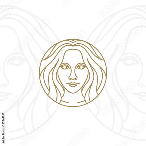 Artistic Beauty woman logo design Poster Mural XXL