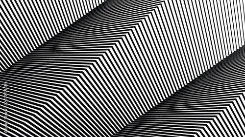 Spoed Foto op Canvas Psychedelic Square line pattern, halftone line background, texture, abstract light pattern, white lines on black background, vector minimal techno background, screen print texture