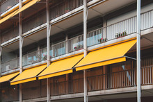 Nice Balcony With Yellow Awnin...