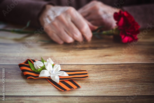 Fotografia  Concept background of May 9 Russian holiday Victory Day