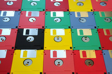 Colored Floppy Disk
