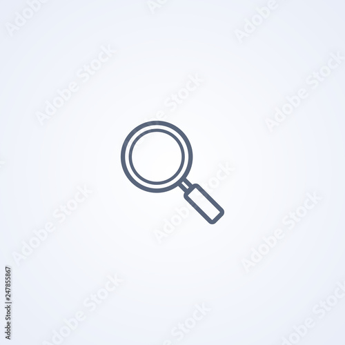 Fototapeta Magnifier, vector best gray line icon obraz na płótnie