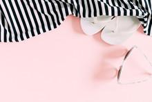 Summer Background. Sunglasses,...