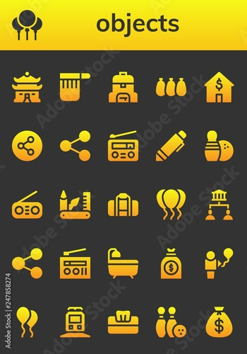 Foto  objects icon set