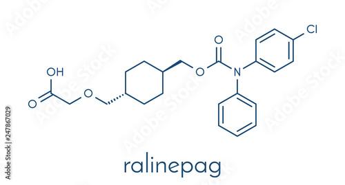 Photo Ralinepag pulmonary arterial hypertension drug molecule