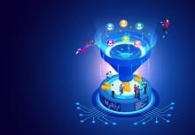 Isometric Online Funnel Genera...