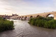 Puente Romano, Roman Bridge, Rio Guadalquivir, Mezquita, Cathedral, Mezquita- Catedral De Cordoba, Cordoba, UNESCO World Heritage Site, Andalusia, Spain, Europe