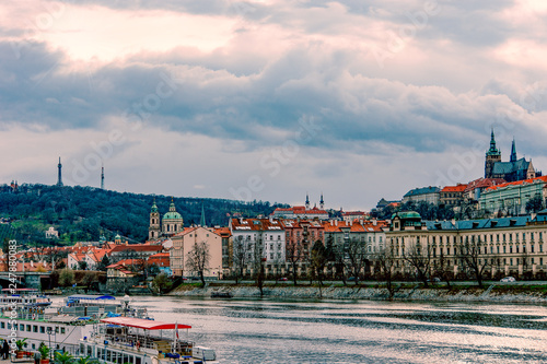 Fotografie, Obraz  Scenic view of historical center at old town of Prague,Czech Republic