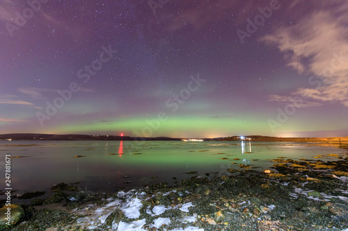 Foto op Aluminium Aubergine Aurora borealis (northern lights) in Scotland
