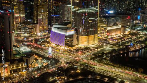 Staande foto Las Vegas Night view of Seoul, Seoul skyline, South Korea.