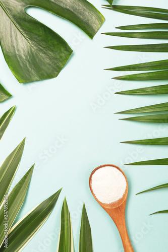 Fotografie, Obraz  Spoon of powder collagen
