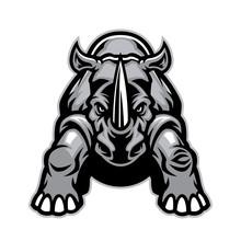 Steady Angry Rhino Mascot
