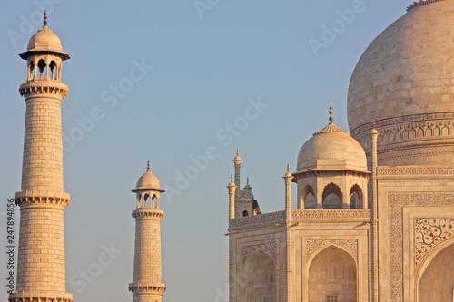 Taj mahal , A famous historical monument  on India Canvas Print