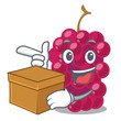 With box mulberry in the character fruit basket