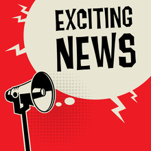 Megaphone Business Concept Exciting News