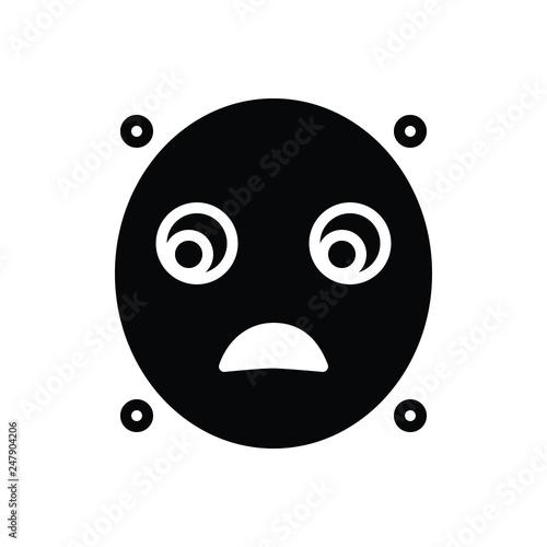 Black line icon for blackface Wallpaper Mural