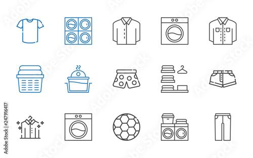 Fotografie, Obraz  shirt icons set