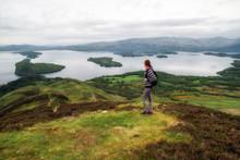 Hiking In Scotland. Lake Loch Lomond