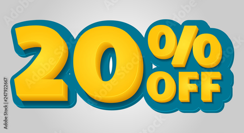 Photo  20% off discount banner