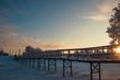 Arkhangelsk region. Winter in the vicinity of the village Levkovka.