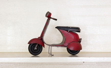 Retro Scooter Isolated
