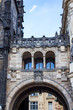 Powder Tower in Prague. Powder gates in Prague. Covered bridge in Prague. Prague architecture of the old city.