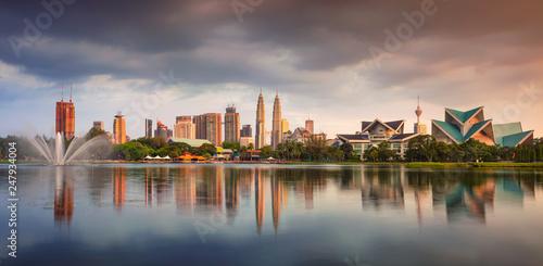 Canvas Prints Kuala Lumpur Kuala Lumpur. Panoramic cityscape image of Kuala Lumpur skyline during sunset.