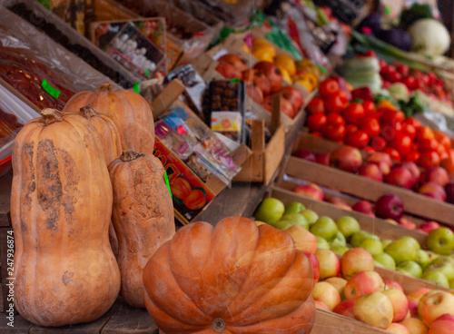 b4f553a44ed market, food, fruit, vegetable, vegetables, autumn, orange, pumpkin ...