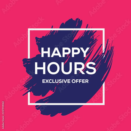 Fotomural HAPPY HOURS BANNER CONCEPT