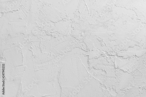 Fotografie, Obraz  White or light gray background, stone and wall grunge texture