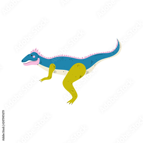 Photo  Apatosaurus Colorful Dinosaur, Cute Prehistoric Animal Vector Illustration