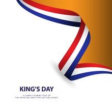 King's Day Vector Template Design Illustration