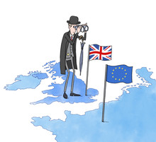 Brexit. Funny Hand Painted Ill...