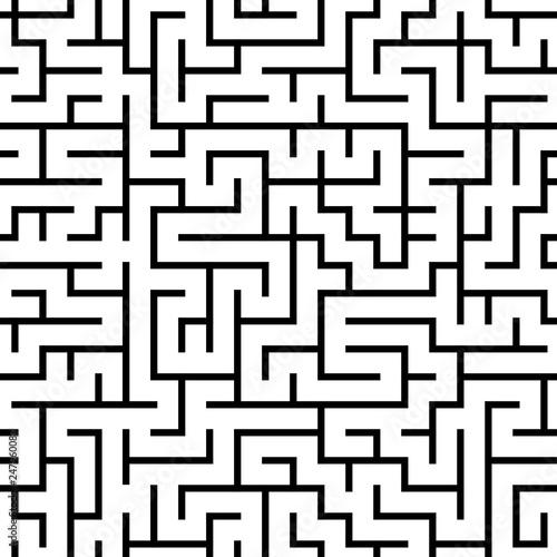 Nahtloses kachelbares Labyrinth Muster Canvas Print