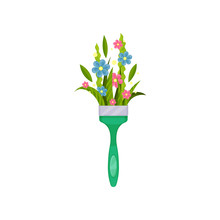 Cute Spring Bouquet In Paint B...