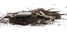 Soil, Dirt Pile With Decorativ...