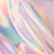 canvas print picture - Iridescent background. Holographic Abstract soft pastel colors backdrop. Holographic Foil Backdrop. Trendy creative gradient.