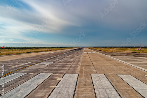 Fotografie, Obraz  mexican small airport landing zone before take off