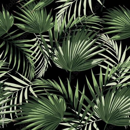 tropikalne-liscie-palmowe-czarne-tlo-wzor-ilustracja-lisci-dzungli-rosliny-egzotyczne-kwiatowy-wzor-letniej-plazy-rajska-przyroda