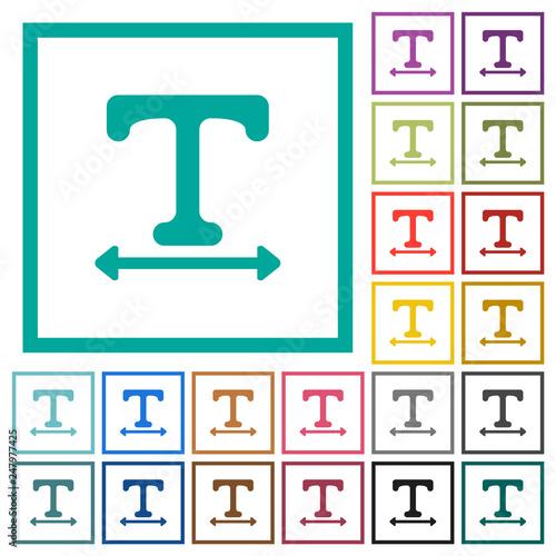 Fototapeta Adjust font width flat color icons with quadrant frames