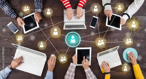 Fototapeta Social Network Online Sharing Connection Concept. obraz
