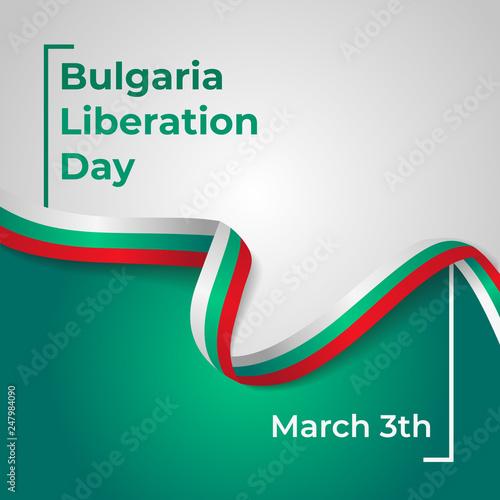 Fotografie, Obraz  Liberation Day Republic of Bulgaria Vector Template Design Illustration