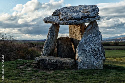 Fotografie, Obraz  dolmen in salvatierra at sunset