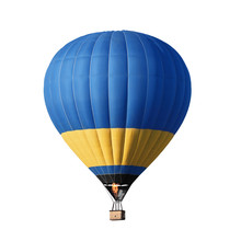 Bright Colorful Hot Air Balloo...