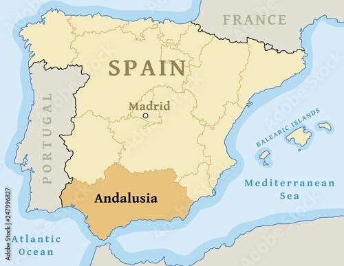 Lerretsbilde Andalusia autonomous community