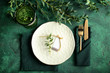 canvas print picture - Simple table setting on color background