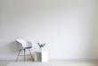 Leinwanddruck Bild - Stylish chair with shelf near white wall in room